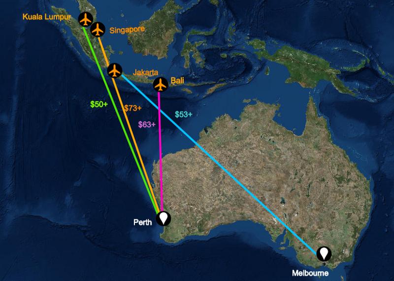 AusraliaFlightMap