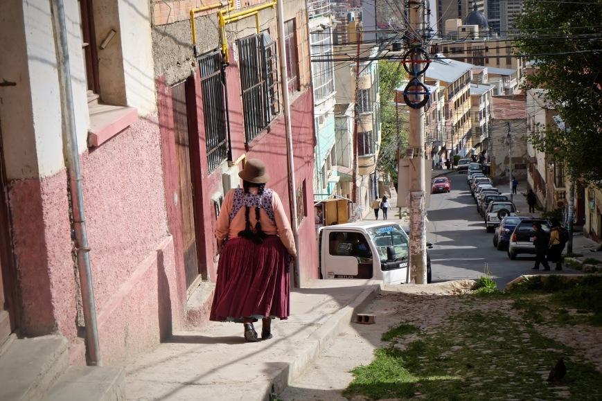 Cholita Woman La Paz Bolivia