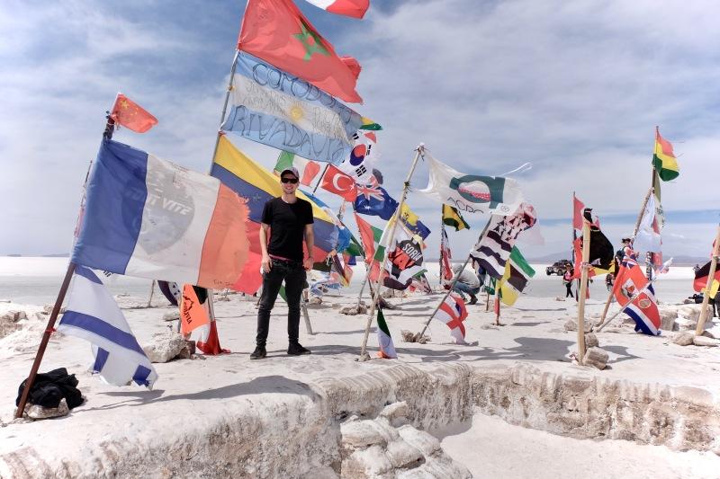 las banderas flags Uyuni Bolivia