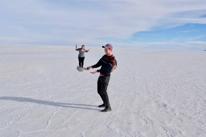 Salar de Uyuni salt flat perspective photo