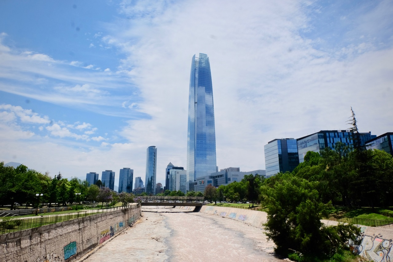Sanhattan financial center Santiago Chile