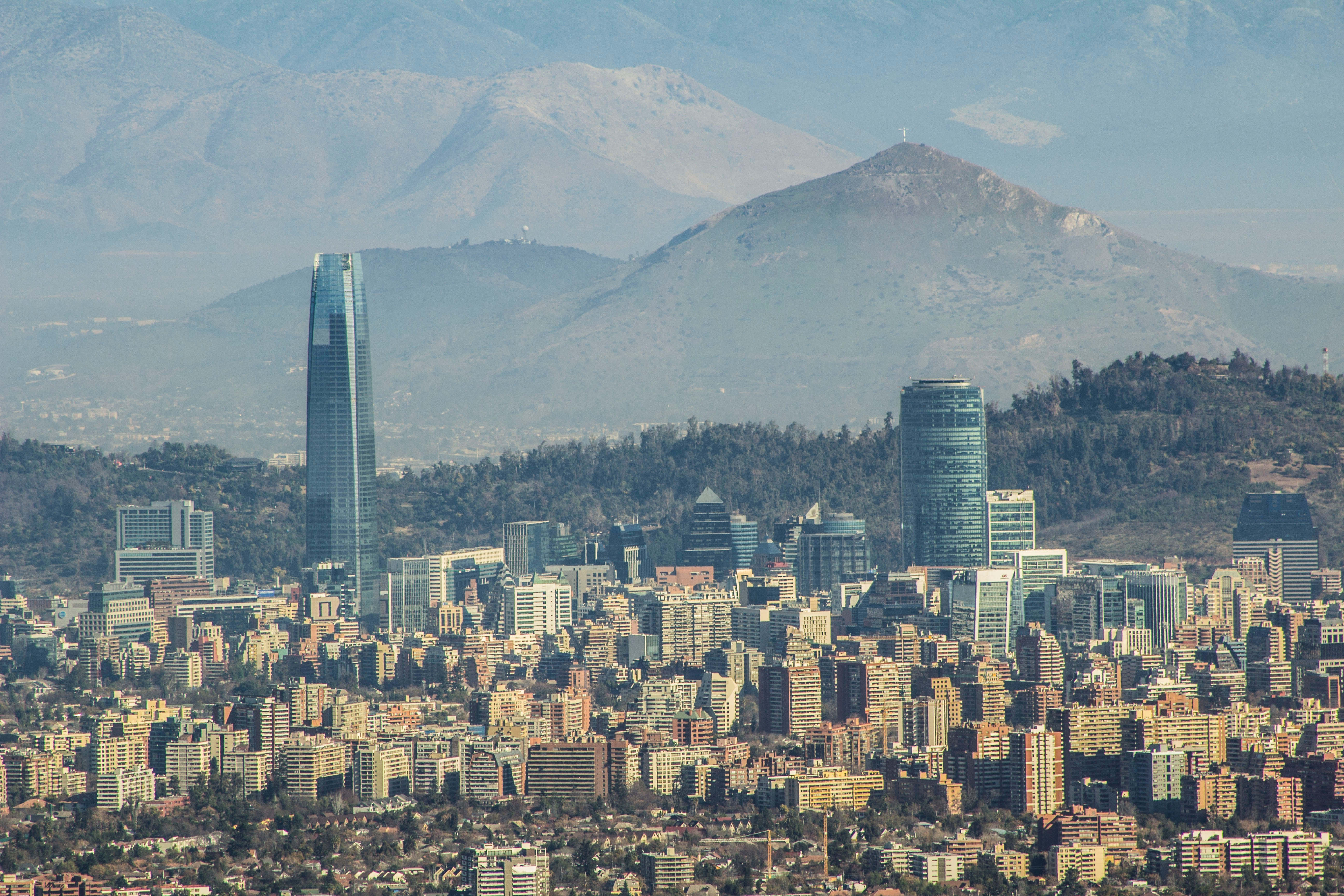 santiago skyline chile